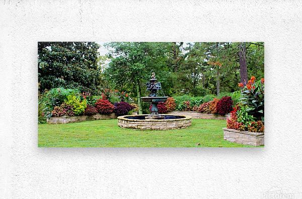 Crescent Gardens  Metal print