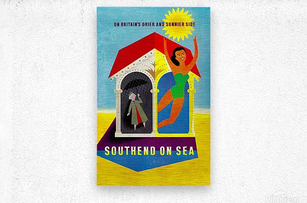 Vintage Travel - Southend on Sea  Metal print