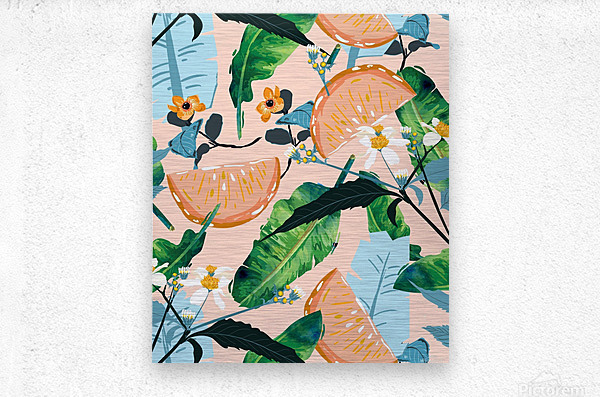 Summer Botanicals  Metal print