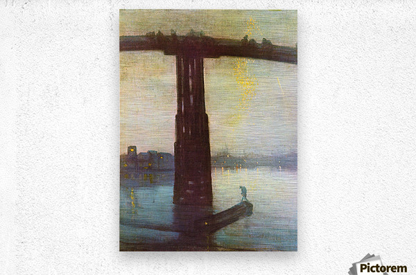 The old Battersea Bridge by James Abbot McNeill Whistler  Metal print