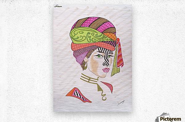 A Woman of a Different Stripe  Metal print
