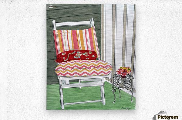 Beach Chair Sans Beach  Metal print