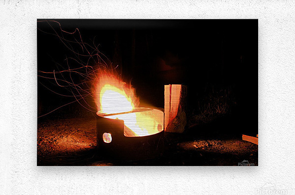 Ask the Campfire  Metal print