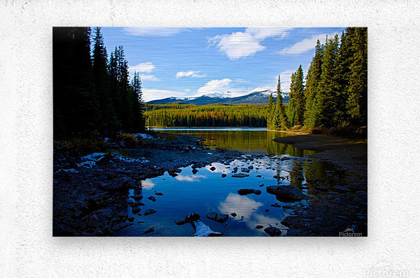 Shallow Bay  Metal print