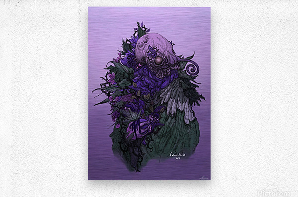 When memories are dying in a dream   Metal print