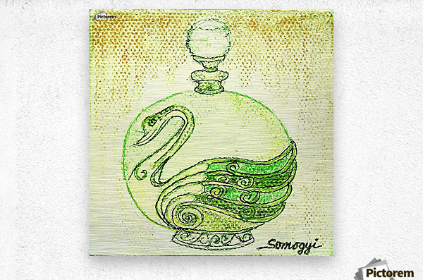 Bottled Lemon Swan  Metal print