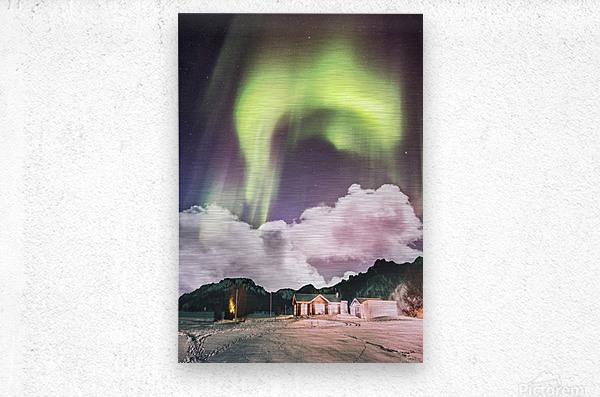 Aurora In The Winter  Metal print