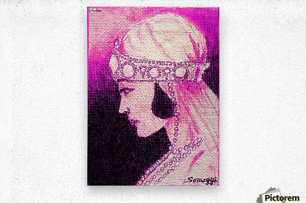 1920's Bride -- in Purple  Metal print