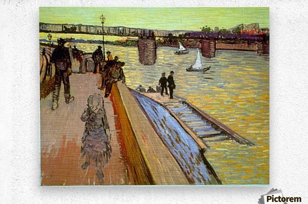 Bridge by Van Gogh  Metal print