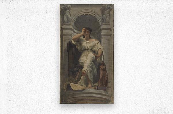 Esquisse pour la coupole du pavillon Denon au Louvre La pensee ou l architecture  Metal print