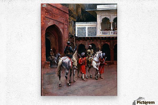 Indian Prince, Palace of Agra  Metal print
