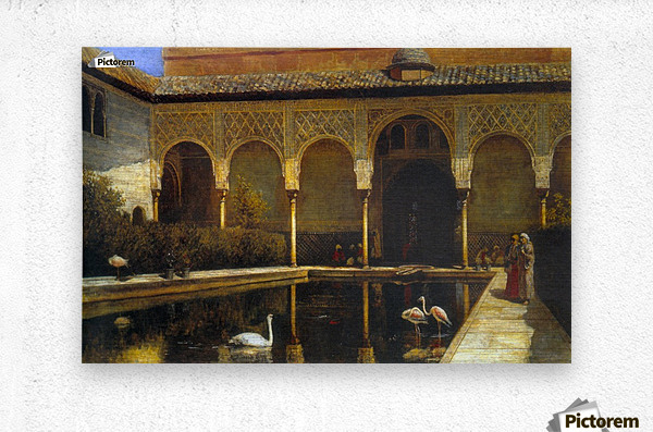 A Court in the Alhambra  Metal print