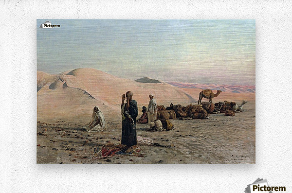 Desert Prayer  Metal print