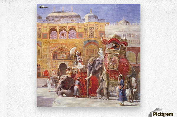 Arrival of Prince Humbert, the palace of Amber  Metal print