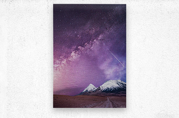 Milky Way Over The Volcano  Metal print