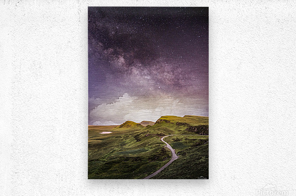 Purple Milky Way And The Sunshine  Metal print