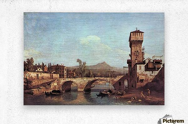 Capriccio Veneto by Canaletto  Metal print