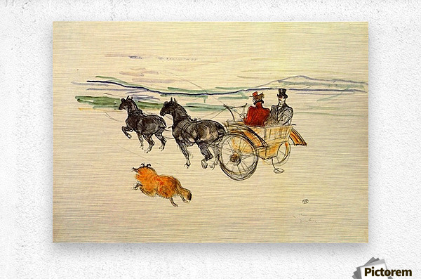 Carriage by Toulouse-Lautrec  Metal print