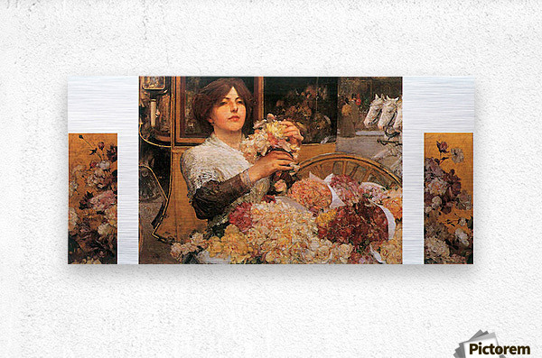The Rose girls by Hassam  Metal print