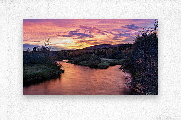 Early morning on the Margaree river   Metal print