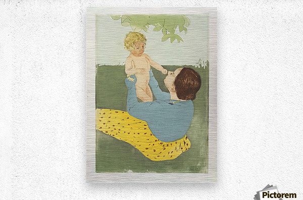Cassatt - Under the Chestnut Tree  Metal print