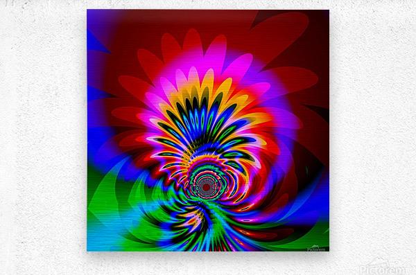 Psychedelic_Flower_series_3  Metal print