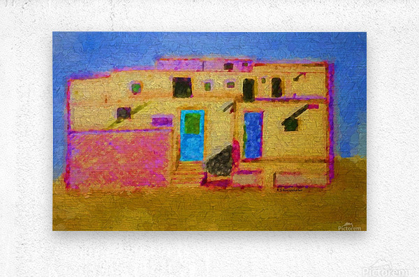 Adobe House New Mexico  Metal print