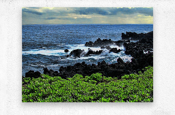 Hana Beach Hawaii  Metal print