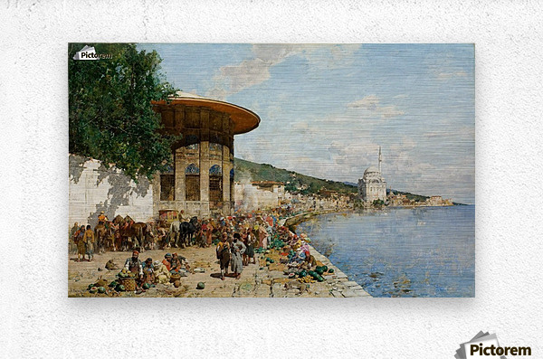 Market Day in Constantinople  Metal print