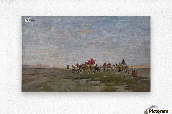 Caravan in the desert  Metal print