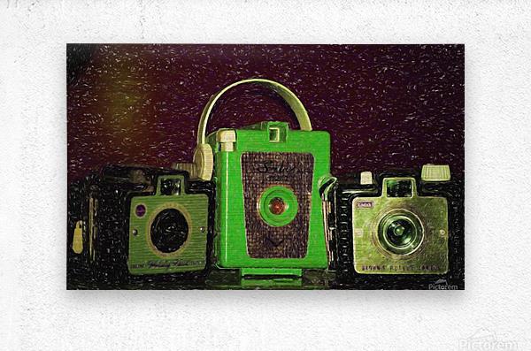 Antique Camera  Metal print