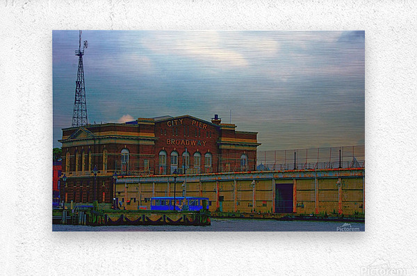 Port of Baltimore MD  Metal print