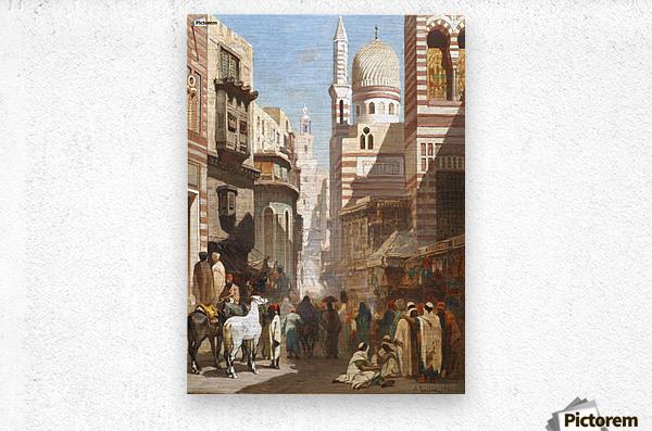 Al-Khudayri street, Cairo  Metal print
