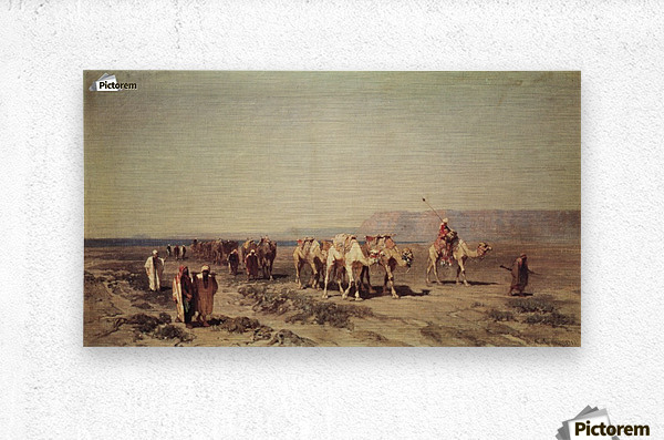 Caravan on the shores of the Red sea  Metal print