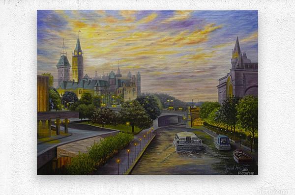 Rideau Canal in Ottawa  Metal print