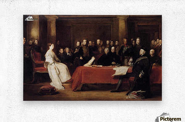 The First Council of Queen Victoria  Metal print