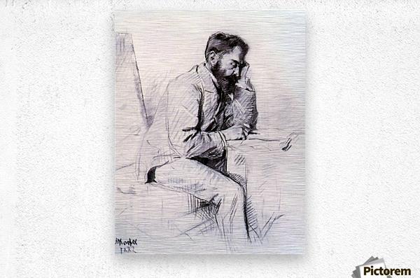 Charles de Toulouse Lautrec by Toulouse-Lautrec  Metal print