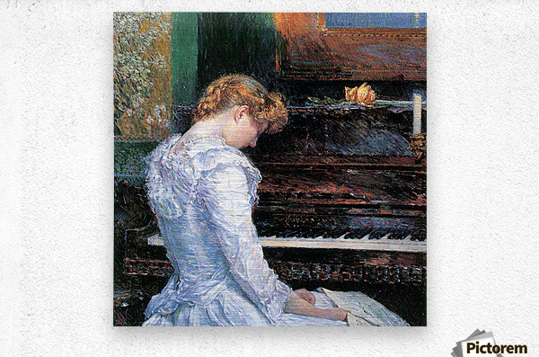 The Sonata by Hassam  Metal print