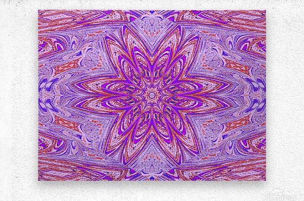 Pink Blue Daisy  Metal print
