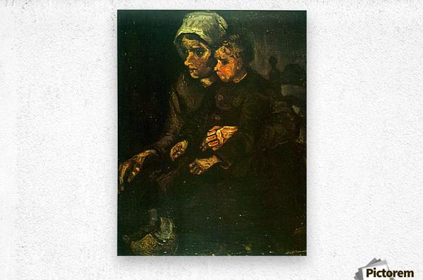 Child on Lap by Van Gogh  Metal print