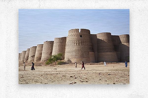 The majestic Derawar Fort in Pakistan  Metal print