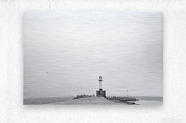 Minimalistic lighthouse  Metal print