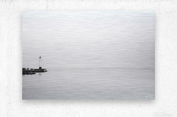 Minimalistic lighthouse 2  Metal print