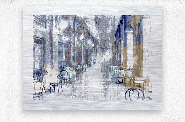 Venise cafe  Metal print