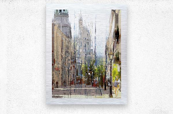 Rue st-Paul Montreal  Metal print