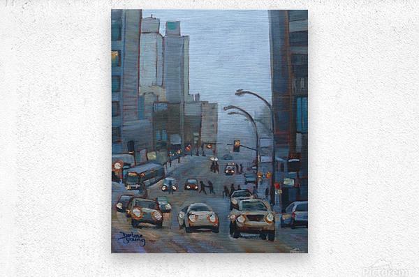 Guy Street Montreal  Metal print