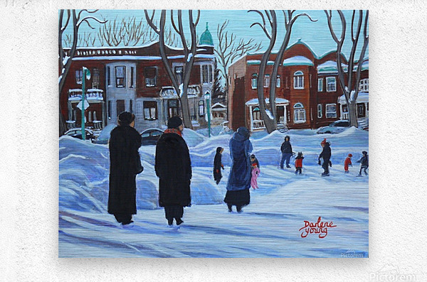 Watching the Kids Outremont  Metal print