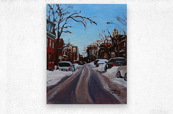 Montreal Winter Scene  Metal print