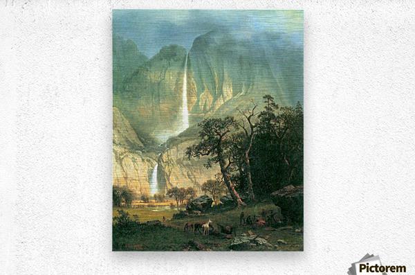Cho-Looke,  Yosemite Watterfall by Bierstadt  Metal print