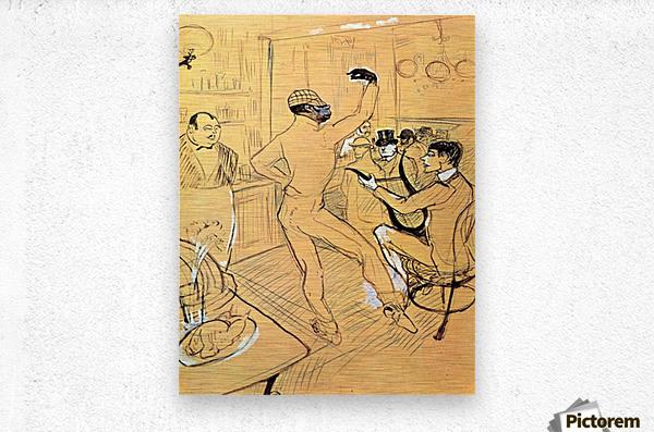 Chocolat dance by Toulouse-Lautrec  Metal print